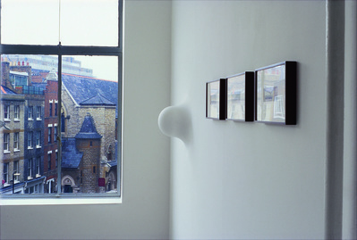 Work No. 102, A protrusion from a wall, 1994