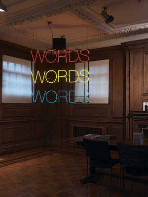 Work No. 259, WORDS WORDS WORDS, 2001