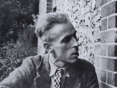 John Piper at Fawley Bottom Farmhouse, c.1935