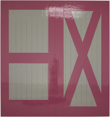 Pink 'n Grey Barn Door, 2010 By Gary Hume