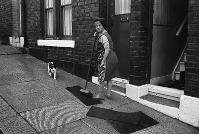 Mrs Carlson and her cat, Byker, 1974