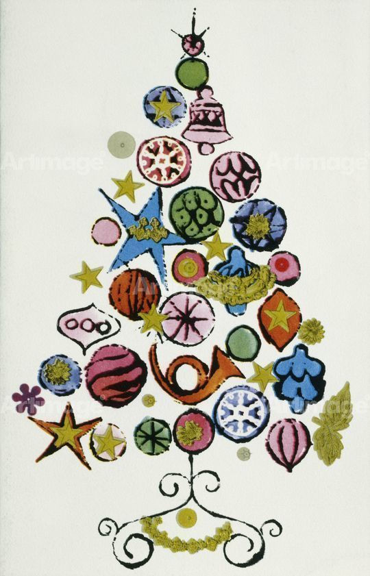Enlarged version of Christmas Card, 1958
