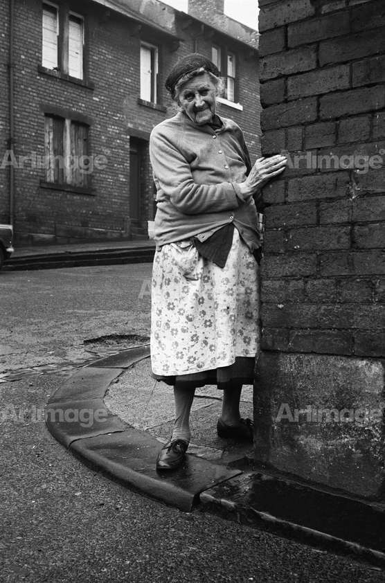 Enlarged version of Mrs Potter of Mason Street, Byker, 1975