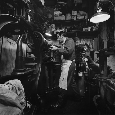 Jack Strickson Shoe Repairs, Byker, 1975