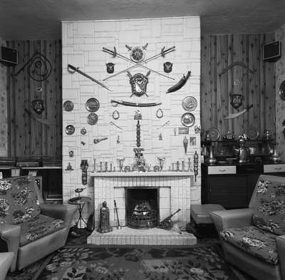 The front room of Harry and Bella Burness, Byker, 1975