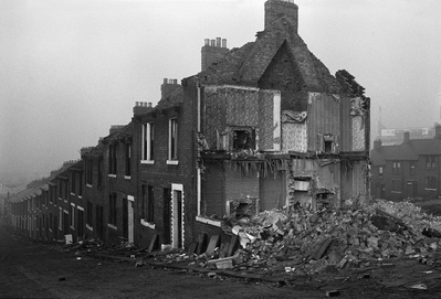 Demolished end of a terrace, Byker, 1975 By Sirkka-Liisa Konttinen