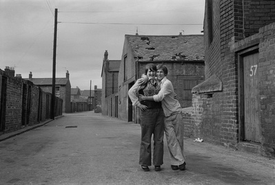 A backlane embrace, Byker, 1975