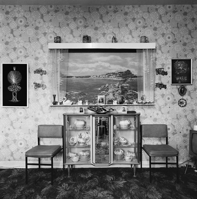 Front room of Harry and Bella Burness, Byker 1975