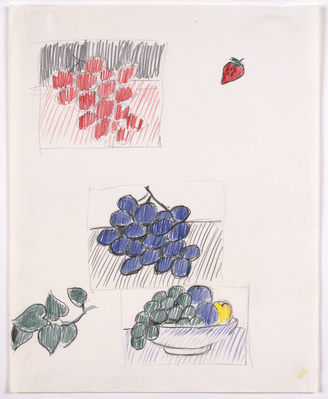 Still Life with Plums and Blue Grapes (Studies), 1972