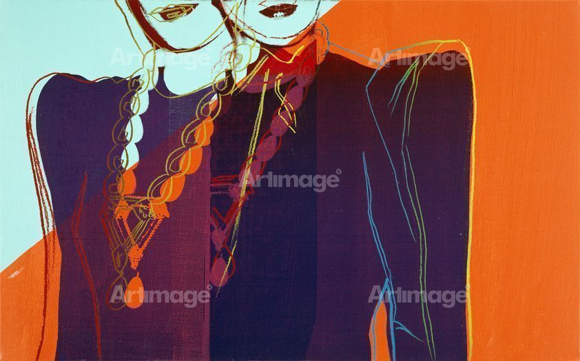 Enlarged version of Fashion - Two Female Torsos With Necklaces, c.1983