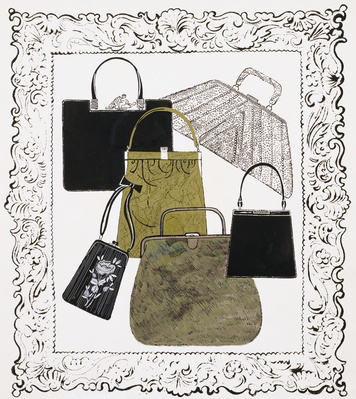 Six Handbags in a Frame, c.1958