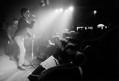 Factory Records: Joy Division on stage, New Osbourne Club 'F...