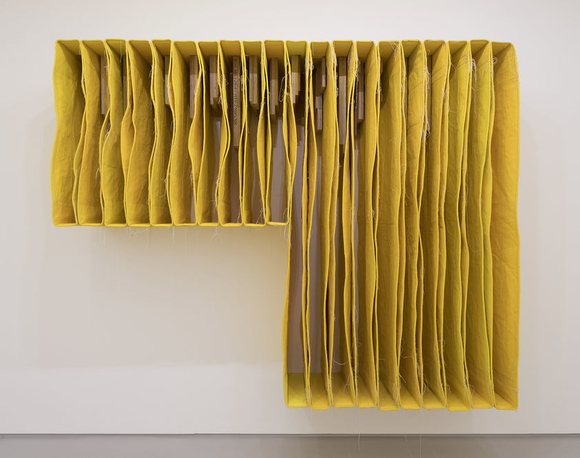 YELLOW UNDERCUT Wallspine, 2017  Simon Callery  Artimage