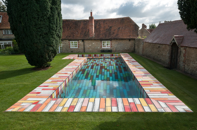 Logo no.134 (Outdoor swimming pool), 2016 By Richard Woods