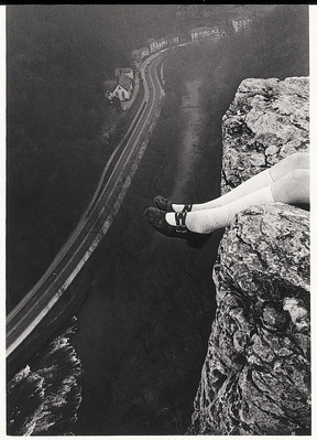 Legs Over High Tor, Matlock Bath, 1976