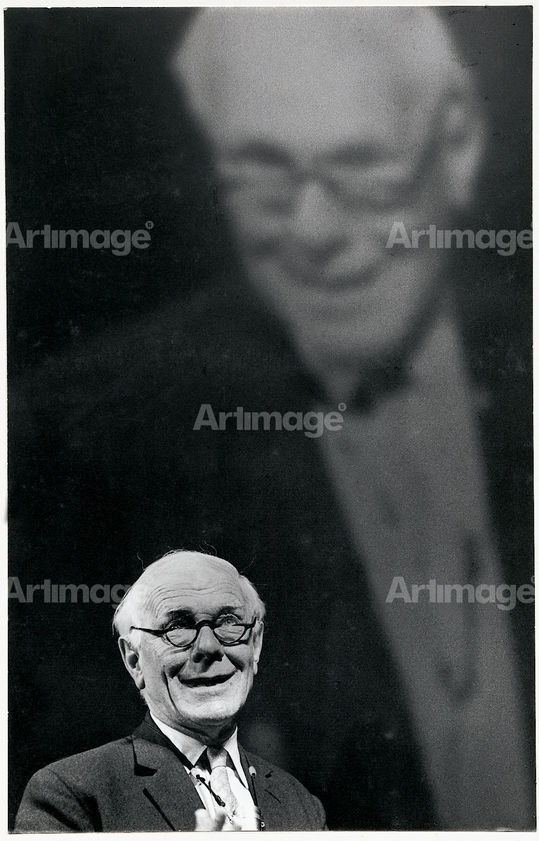 Enlarged version of Malcolm Muggeridge, Albert Hall, London, 1969