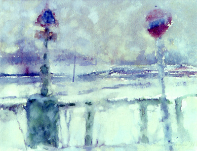 Snow Storm, Chiswick Mall, 1994