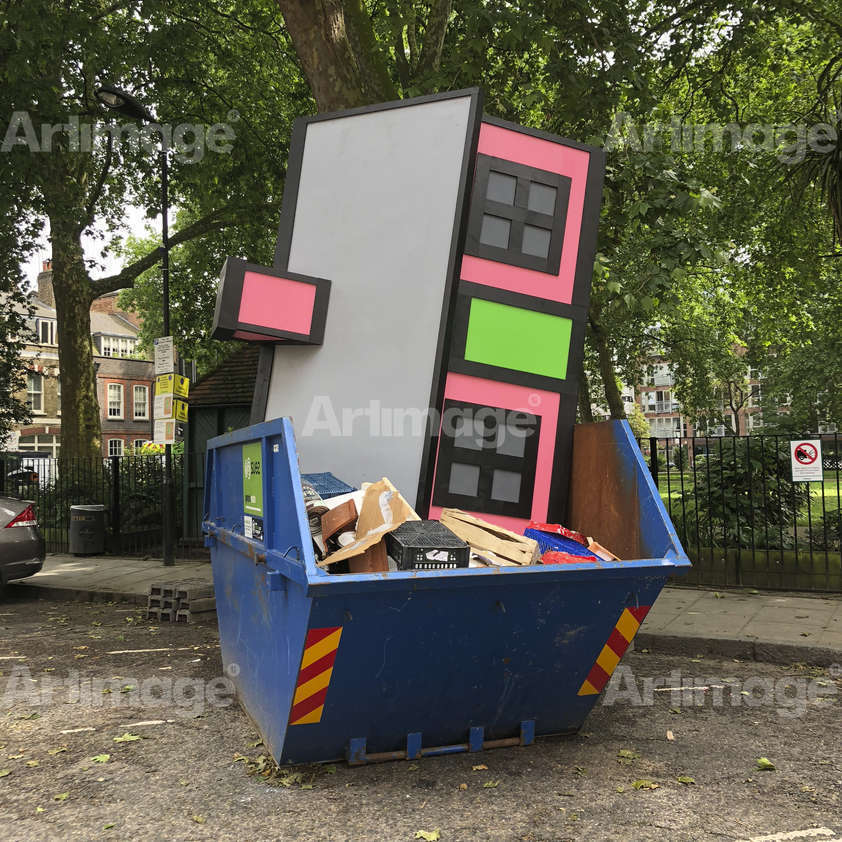 Enlarged version of UPGRADE, Hoxton Square, 2018