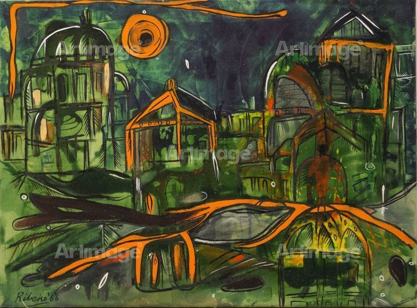 Orange Green Landscape, 1966
