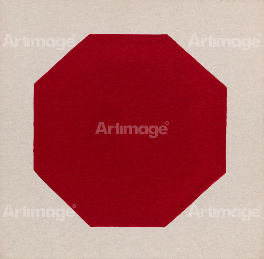 Enlarged version of Octagon (red), 2018