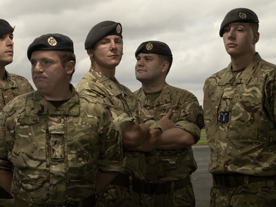 Corporal Greg and Senior Aircraftmen Steve, Alex, Connor and...