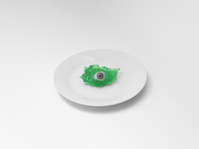 Glass Eye On Plate, London, 2017 By Brian Griffin