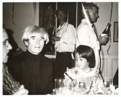 Keith Haring, Andy Warhol and Sean Lennon, 1984