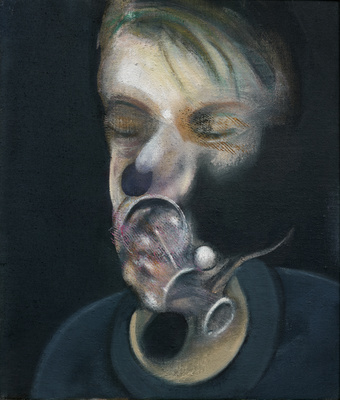 Two Studies for Self-Portrait, 1977  By Francis Bacon