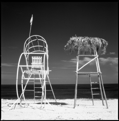 Lifeguard Towers, Santa Maria Beach, Havana, Cuba, 2010