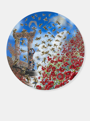 St. Sebastian of the Poppies, 2011-12 By Raqib Shaw