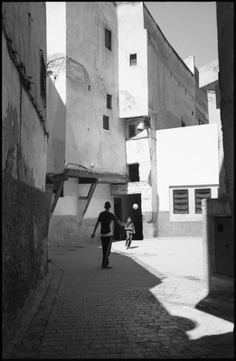 Football, The Medina, Fes, Morocco, 2017
