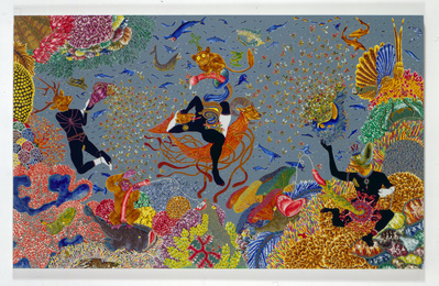 The Garden of Earthly Delights XII, 2005 By Raqib Shaw