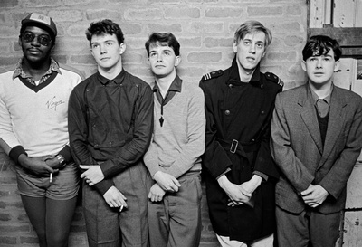 Factory Records: Factory band, A Certain Ratio. L to R: Dona... By Daniel Meadows