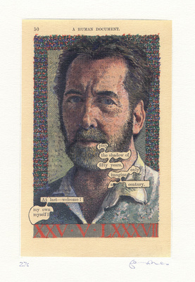 Tom Phillips ('Humument Self-Portrait at Fifty'), 1987