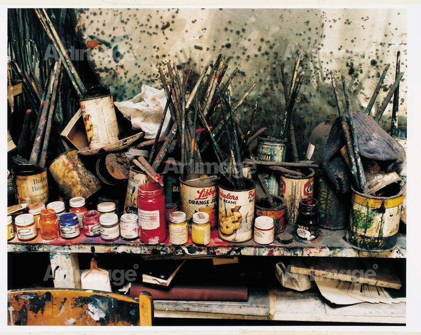 Enlarged version of Francis Bacon's Studio at 7 Reece Mews, London, 1998