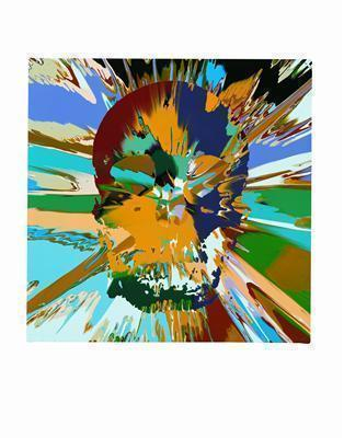 Beautiful Branwen Paraphrenia Intense Painting (with Extra I... By Damien Hirst