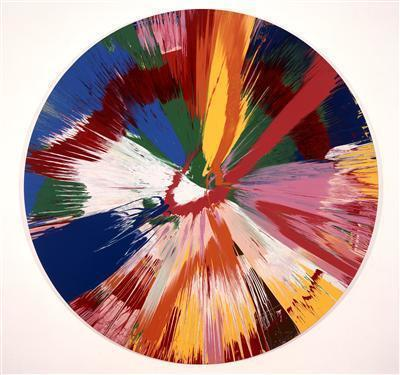 Beautiful, pop, spinning ice creamy, whirling, expanding pai... By Damien Hirst
