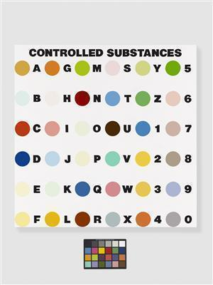 Controlled Substance Key Painting, 1994 By Damien Hirst