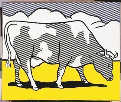 Cow Triptych (Cow Going Abstract), 1974 (a)