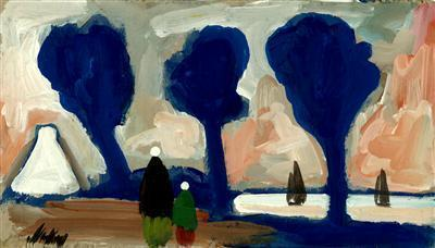 Blue Trees and Pink Sky, 1990  By Markey Robinson