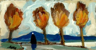 Orange Trees and Blue Sky, 1990  By Markey Robinson