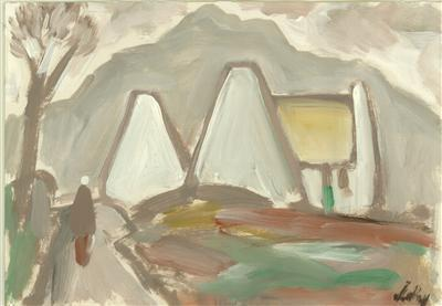 Gable Ends on the Mountain Road, 1990 By Markey Robinson
