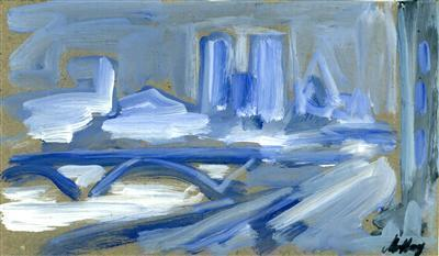 Blue Bridge and Skyline, late 1990s By Markey Robinson