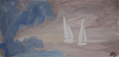 Blue Tress and White Sails, 1999 By Markey Robinson