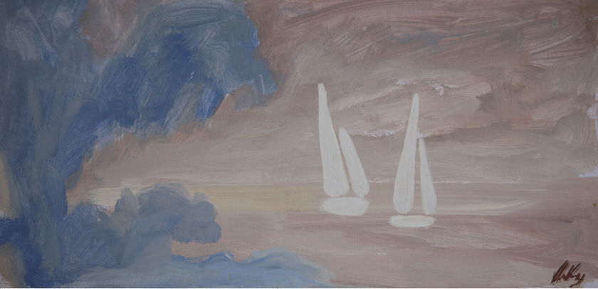 Blue Tress and White Sails, 1999