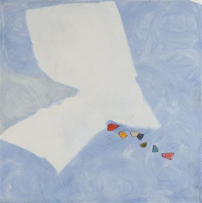 Mixed media on masonite, 1982