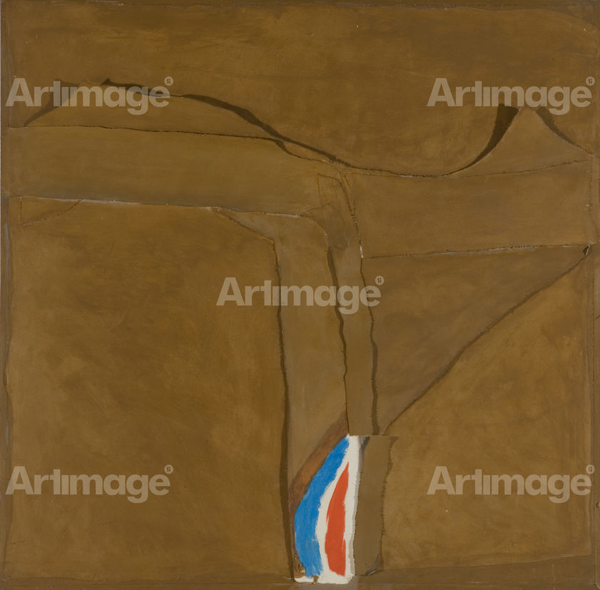 Enlarged version of Canvas and Collage on Board, 1980s