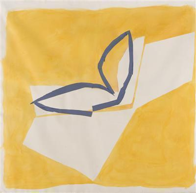 Yellow and Blue, 1985 By Sandra Blow