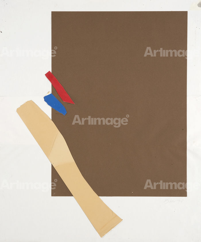 Enlarged version of Collage on paper, 1998