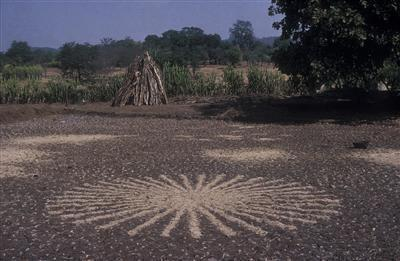 Paddy Field Chaff Circle, 2003 By Richard Long